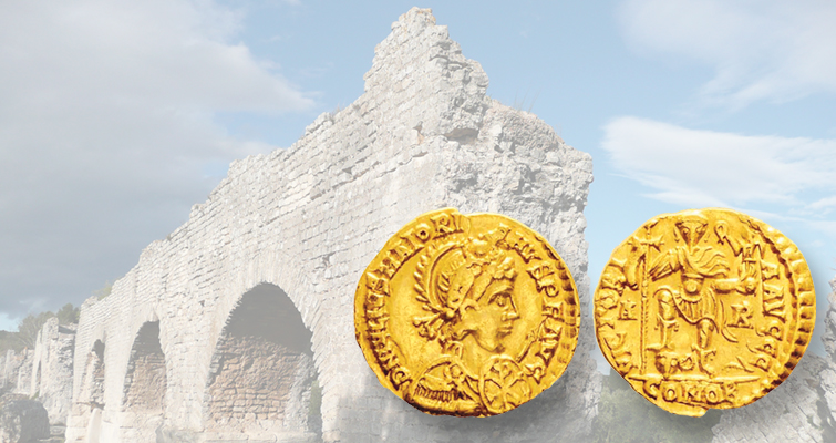 Last gasp of Roman empire includes coins of Majorian