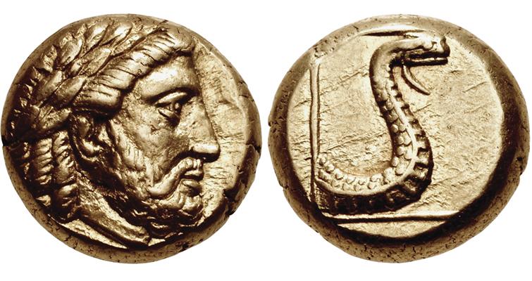 greek-god-zeus-electrum-hecte-mytilene-snake-coin