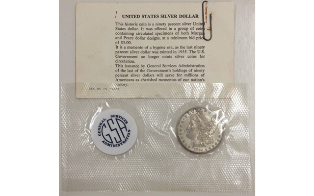 1884-S Morgan dollar in GSA 'soft pack' holder exceeds seller's expectations
