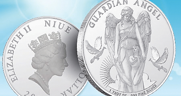 Niue issues Guardian Angel silver bullion coin with legal tender status