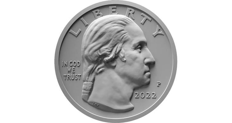 2022 quarter dollar obverse