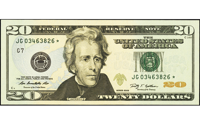Effort to replace Andrew Jackson with woman on $20 FRN reaches U.S. Senate