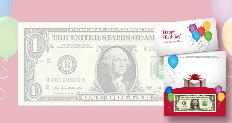 BEP 2016 Happy Birthday Currency Note