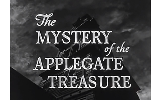 This is a screen grab from the title sequence of 'The Hardy Boys: The Mystery of the Applegate Treasure.'