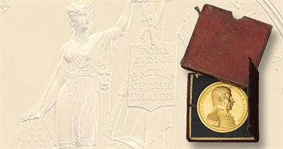 Congressional gold medal issued to William Henry Harrison