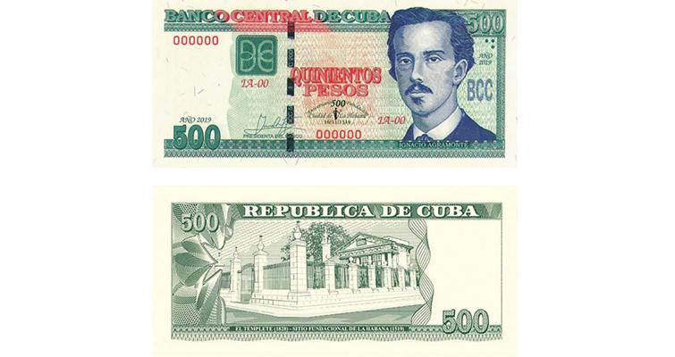 Neuer 500-Pesos-Banknote anlässlichdes 500 Jahrestags von Havanna. Vorder- und Rückseite | Bildquelle: https://www.coinworld.com © Kubanische Zentralbank | Bilder sind in der Regel urheberrechtlich geschützt