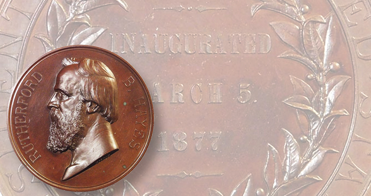 Rutherford B. Hayes in high relief medallic form: About VAMs