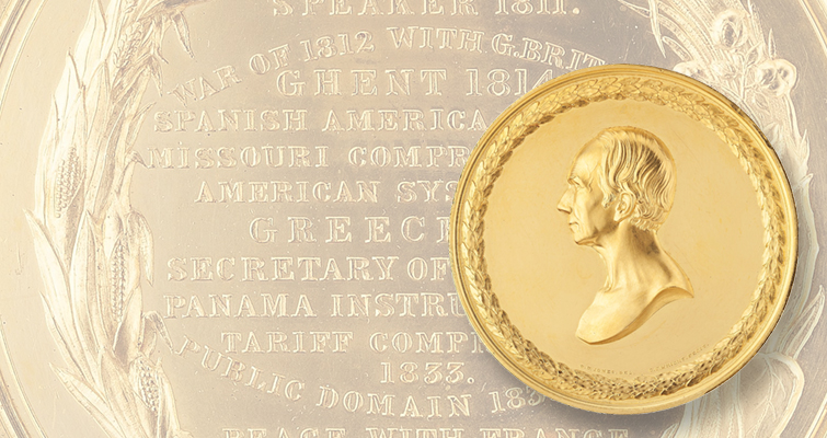 1852 30-ounce gold Henry Clay medal sells at auction for $346,000