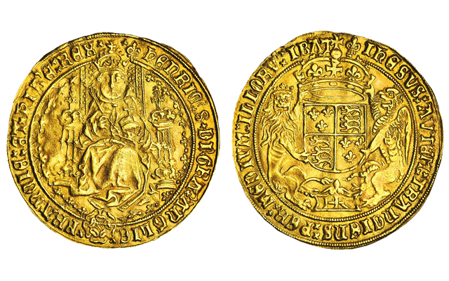 henry-viii-gold-sovereign-lot-541