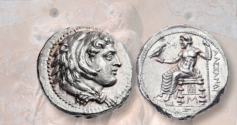 Portraits of Heracles were frequently used on ancient coins
