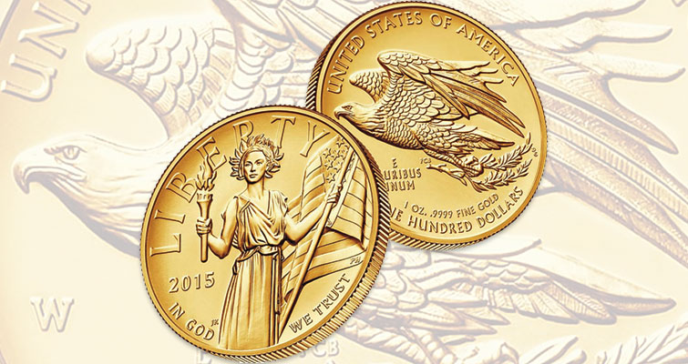 Initial pricing for 2015-W American Liberty, High Relief gold $100 coin set at $1,490