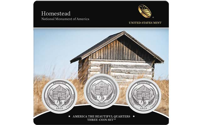 Homestead National Monument of America Quarter 3-Coin Set on sale March 3
