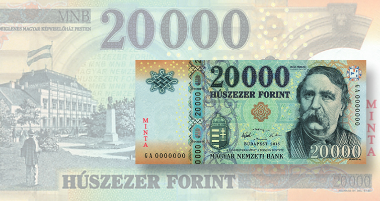 National Bank of Hungary refreshes design for 20,000-forint note with new colors