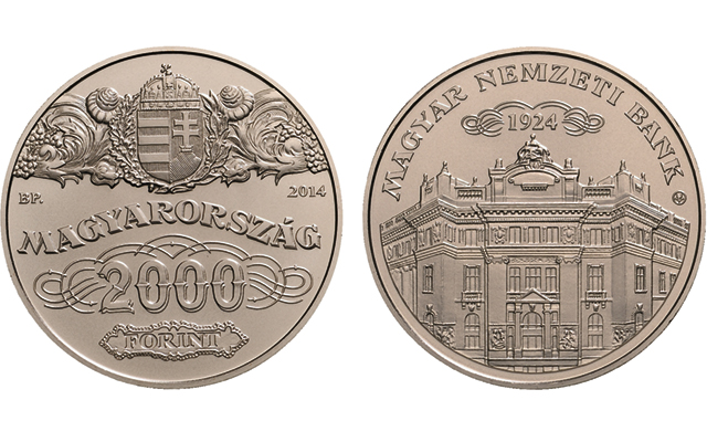 Hungary's new collector coin in two versions uses historic bank shares as motif