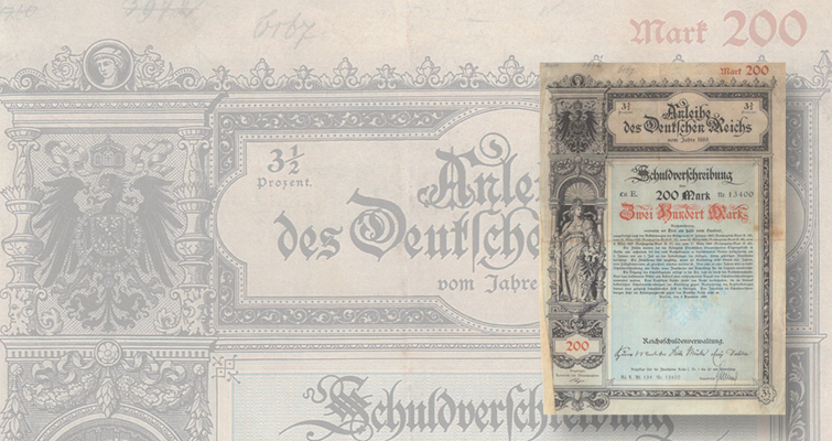 Germany to sell historic bonds dating from 1878 to 1938