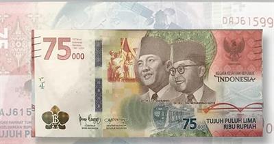 Commemorative Indonesia 75,000-rupiah