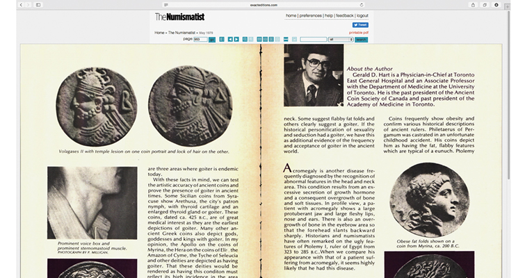 Digital archive of The Numismatist