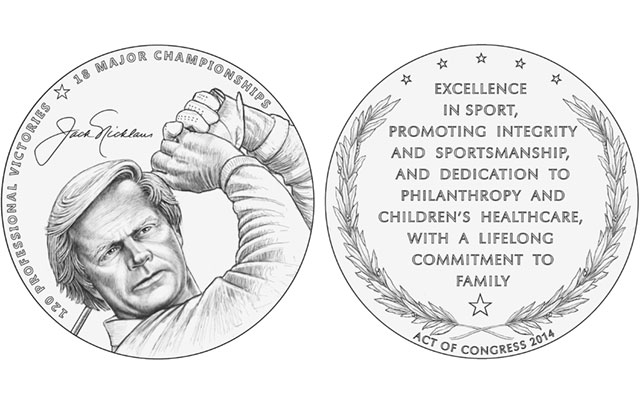 Commission of Fine Arts recommends Nicklaus medal designs