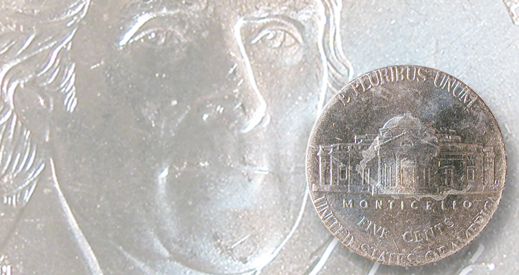 2014-P Jefferson 5-cent coin design creep error