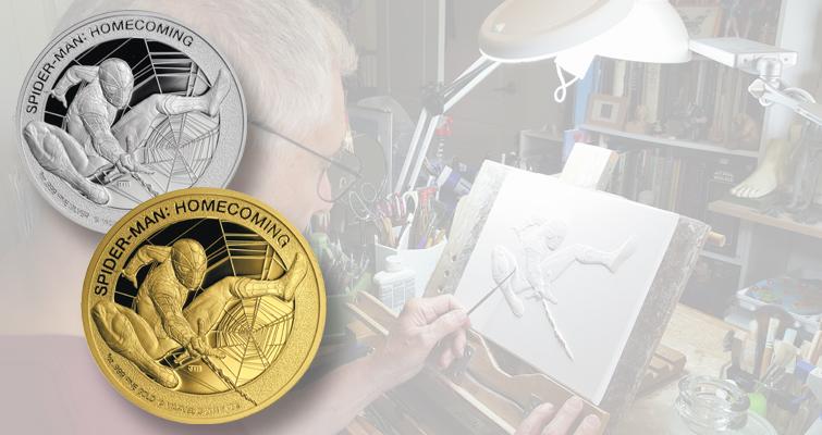 john-mercanti-sculpting-spider-man-coins