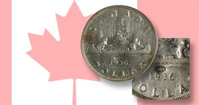 Counterstamped JOP Canadian silver dollars