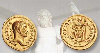 jupiter-gold-aureus-trier-diocletian-statue