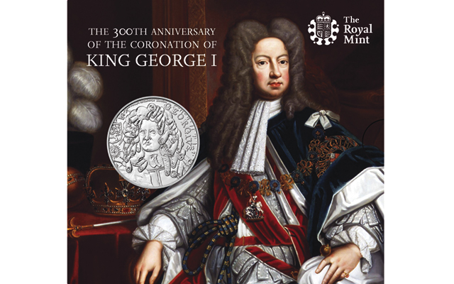 Royal Mint commemorates coronation of King George I with Alderney £5 coins