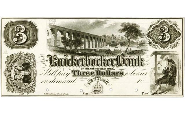knickerbockerbanknote