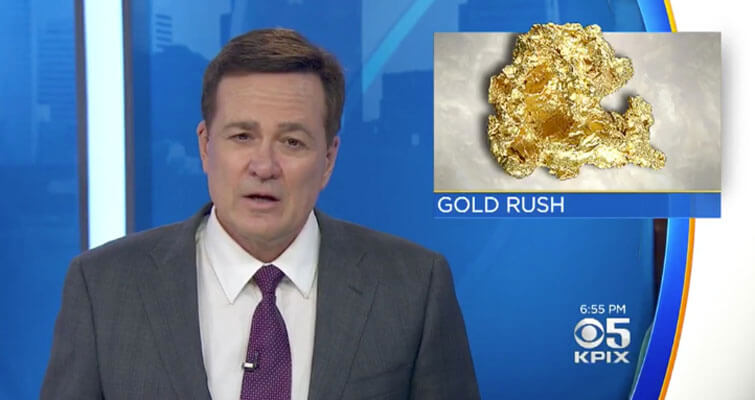KPIX coverage of gold nugget found