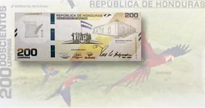 Honduras 200-lempira note
