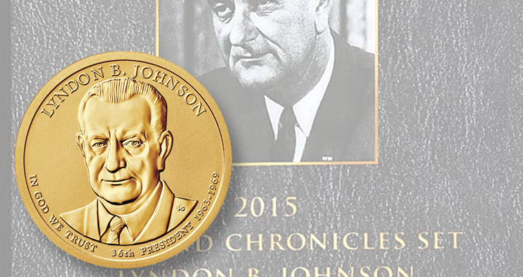 Lyndon B. Johnson Coin and Chronicles set on sale by U.S. Mint beginning Oct. 27