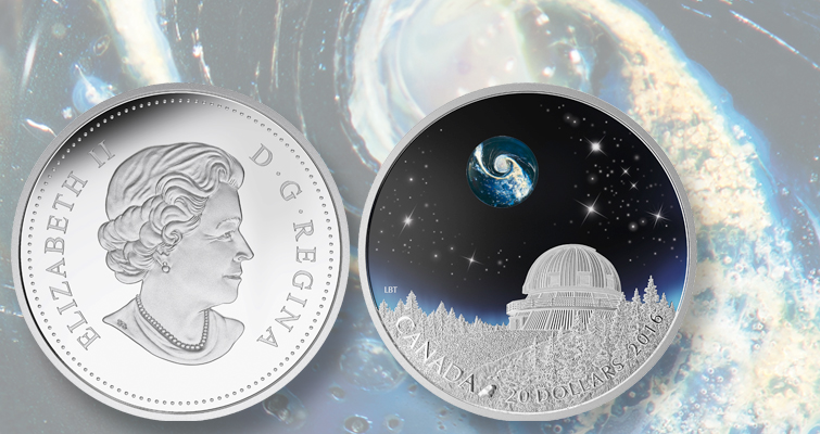 Royal Canadian Mint issues first coin with color, fine art glass, glow paint