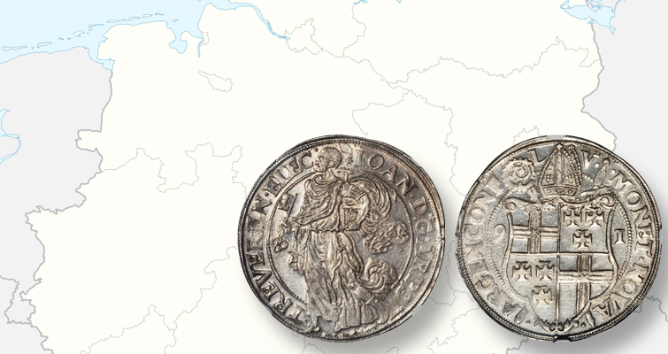 Rare silver taler of Trier in Stack's Bowers and Ponterio sale