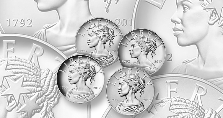 The 2017 4-piece American Liberty silver medal set, launching at noon Oct. 19, at $199.95, mintage 50,000 and a household limit of 2 sets, is a likely sellout.