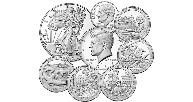 Limited-Edition silver Proof set coins