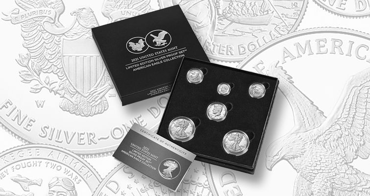 2021 Limited Edition Silver Proof Set - American Eagle Collection