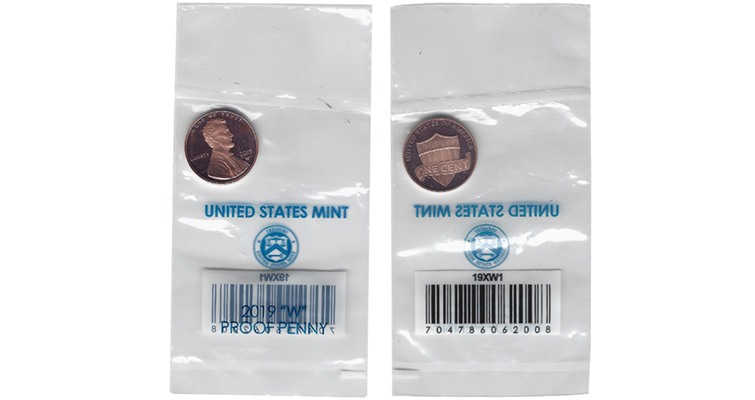 Mint says plastic packaging safe for 2019-W Lincoln cents