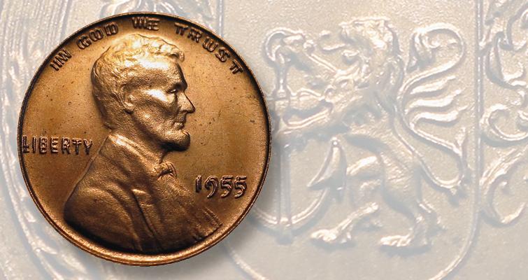 Replica 1955 DDO Lincoln cent