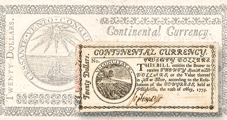 Have you seen Continental Currency on 'marbled border' paper?