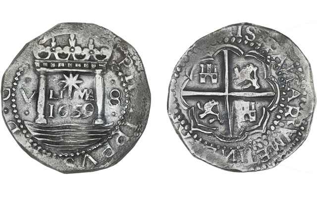 'Finest known' Star of Lima silver 8-real coin in Sedwick auction