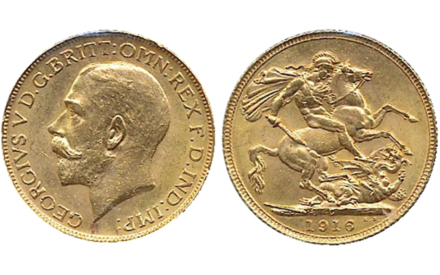 1916 C Gold Sovereign Highlights Canadian Auction