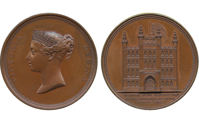1837 medal in June 7 Baldwin's auction affordable way to own 'Penny Black' stamp image