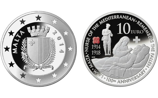 Malta, the 'Nurse of the Mediterranean,' marks World War I anniversary with silver €10 commemorative