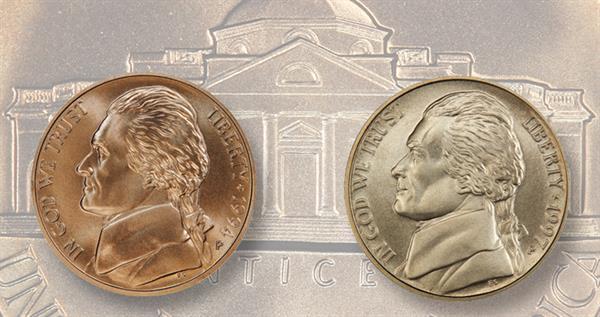 matte-finish-jefferson-5-cent-coins-lead