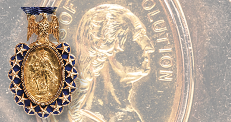 Gold Sons of the Revolution hanging medal in Early American sale