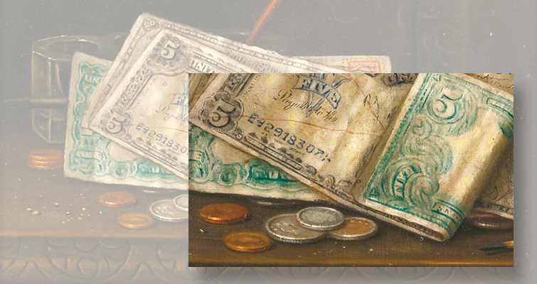Sotheby's auction of paper money and coin paintings yields big bucks