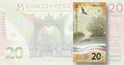 Mexico 20-peso note