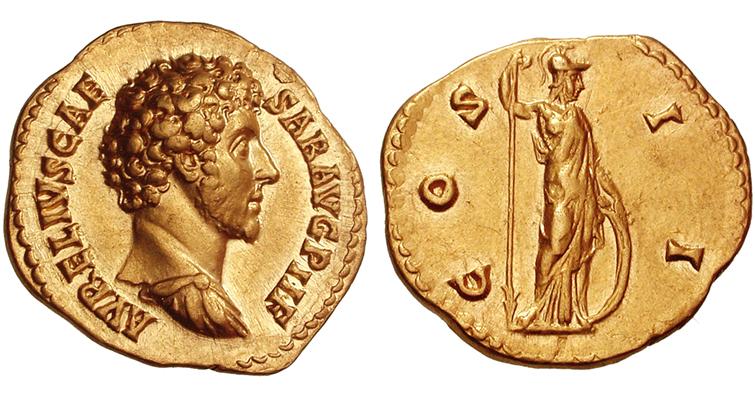minerva-gold-aureus-marcus-aurelius