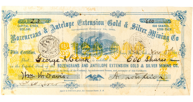 mining-stock-certificate
