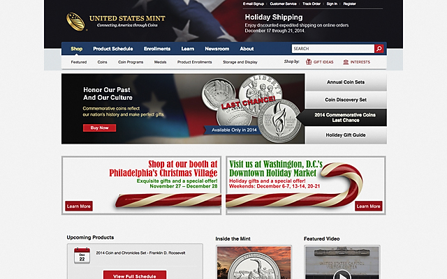 The U.S. Mint debuted its new website and order management system in October.